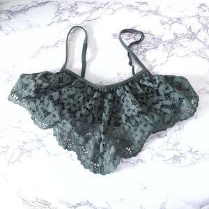 Victoria Secret Green Lace Triangle Bralette